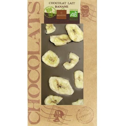 Chocolat lait et banane bio