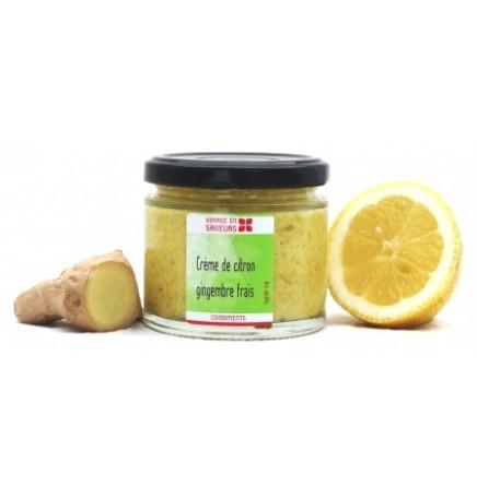 Crème de citron et gingembre bio