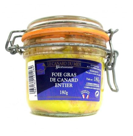 Foie gras de canard entier - 180g (non bio)