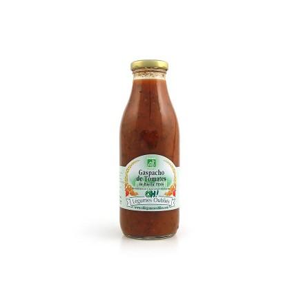 Gaspacho de tomate au basilic bio