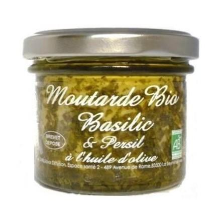 Moutarde bio basilic et persil