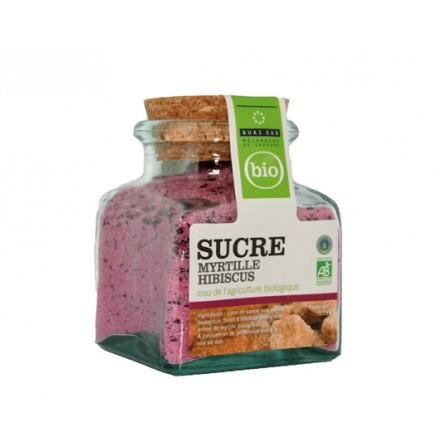 Sucre myrtille-hibiscus bio