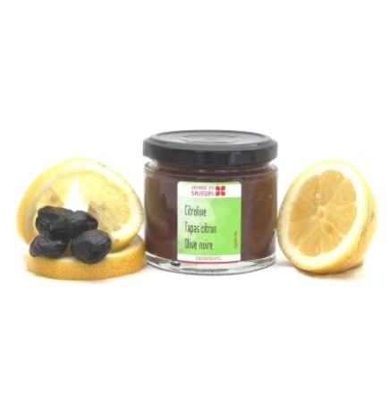 Tapas citron olive noire bio